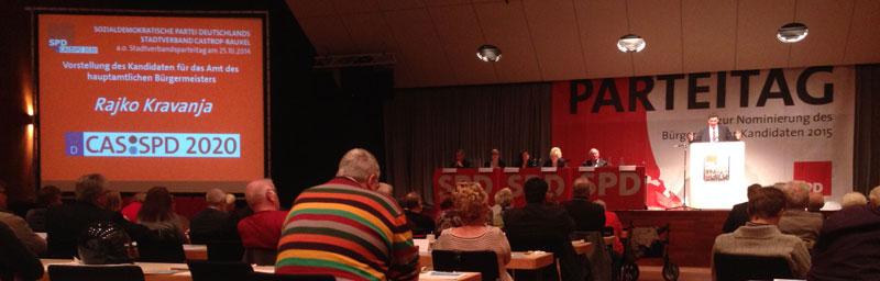 Stadthalle Castrop-Rauxel beim SPD-Parteitag